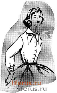 Женская блузка с нагрудной вытачкой от плеча