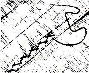 Бархатный шов, или «козлик»